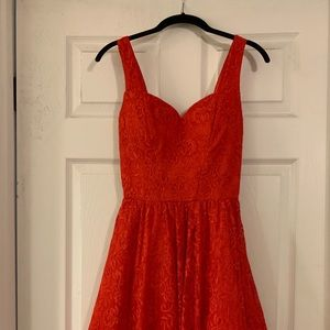 Red sweetheart dress